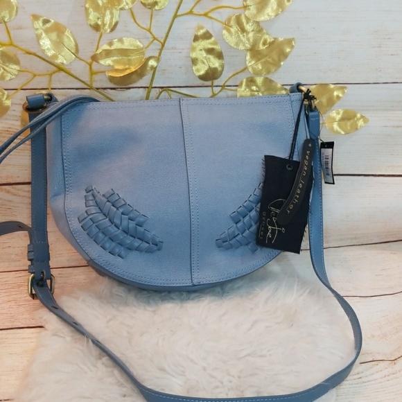 Elle & Jae Handbags - NWT Elle & Jae vegan leather woven shoulder bag
